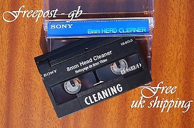 SUPER SONY V8-6CLD Video 8 - 8mm - Hi8 & Digital 8 Head Cleaning Tape / Cassette 6