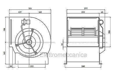 Ventilatore centrifugo DD 7/7 - 147 Watt - monofase aspiratore per cappe cucina 3
