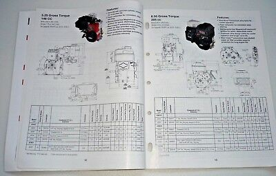 Briggs & Stratton Dealer Engine Sales Replacement Specifications MS-5568-10/09 4
