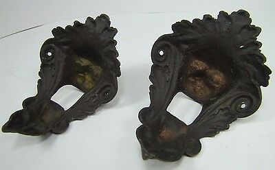 Antique Pair Bronze Monster Beast Lion Head Decorative Architectural Hardware 2 11