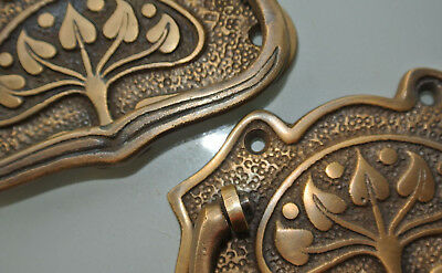 8 large DECO cabinet handles solid brass furniture antiques age old style 11cmB 4