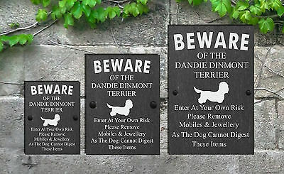 2 Of 3 Humorous Beware The Dog Slate Funny Gate House Sign Sizes All Breeds D L
