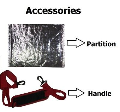 2 Strong Heavy Duty Hot Food Takeaway Delivery Bag 46x33x33cm Kebab.Indian.Chine 6