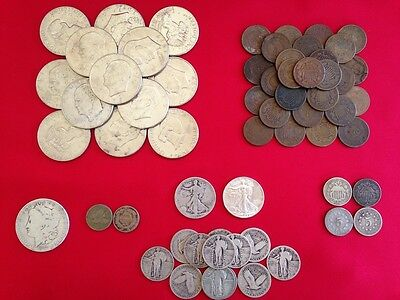 ☆ 50 Coins From Estate Collection ☆ Roman, World, Old Early US 1800s GOLD SILVER 9