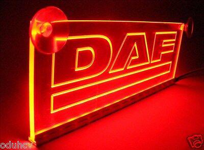 12V LED Rot Leuchtschild für Scania Griffin Lkw Neon Lasergravur Tisch Schild