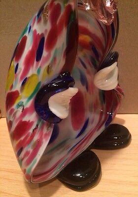 Vintage Murano Italian Art Glass Clown Figurine Bowl - Hand Blown 9