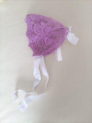 So Soft! Newborn Knit Baby Bonnet Lace Bonnet Hat for Baby photo prop