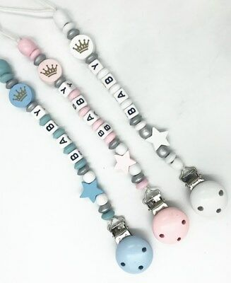 Baby Star Pacifier Chain dummy Holder Clip Baby Feeding Teether Pacifiers Clip 3