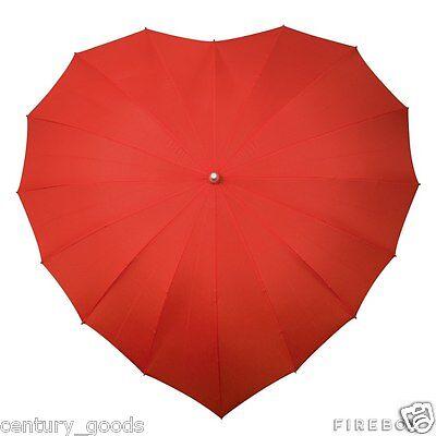 Heart Shaped Umbrellas In 3 Colour Choice. Weddings,Birthdays,Valentine, Brides 3