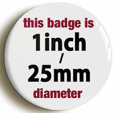 HANG THE DJ BADGE BUTTON PIN (Size is 1inch/25mm diameter)