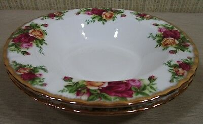 2X Royal Albert Old Country Rose Set 2 Rim Soup Bowls Cereal Bowls Never Use 4