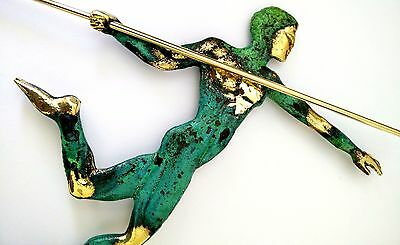 Ancient Greek Bronze Museum Statue Replica Of Javelin Thrower At Olympic Games 3