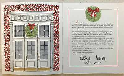 2019 White House Christmas Holidays Tour Book Program Donald Melania Trump POTUS 3