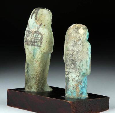 Lot of 2 Egyptian 18th Dynasty Faience Ushabtis Lot 5C