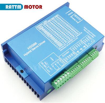EU 3 x Nema34 4.5N.m CNC Kit Closed Loop Servo Motor 82mm &HSS86 Driver&3M Cable 8