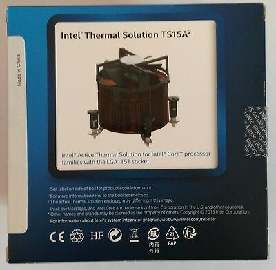 Intel Bxts15a Thermal Solution Air Active Heat Sink for LGA1151 0C2D
