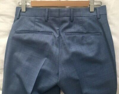 Boys River Island Blue Smart Trousers - Size: 26R/32 4