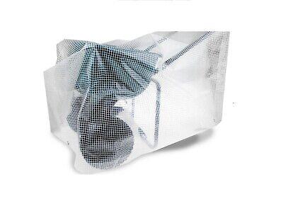 Heavy Duty Reinforced Mesh Clear Waterproof Tarpaulin Cover Mono Sheet Clear 2