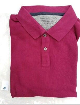Mens Polo Shirt EX M&S Casual Polo Shirt Regular Fit Size S - 3XL RRP £15 3