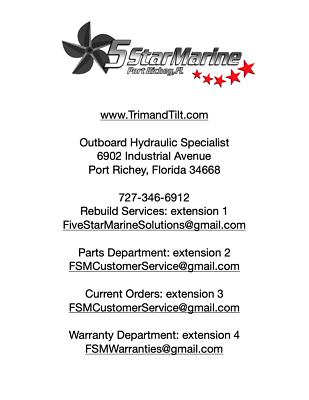 REBUILD SERVICE!!! FOR YAMAHA Old Style 2-STROKE 115,130,150 200 TILT & TRIM
