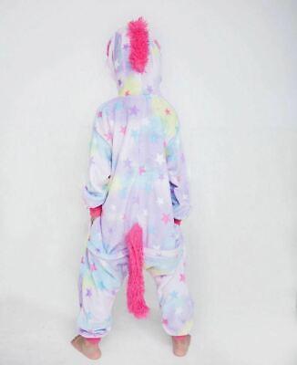 Adult/Child Unicorn Unisex Kigurumi Animal Cosplay Costume 1Onesie Pyjama UK 6