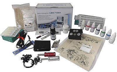 INKgrafiX® LADY GIRL  TATTOO KOMPLETTSET Tattoomaschine Rosa SET XL PROFI Damen