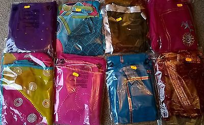 Children's Bollywood designer sarees with matching blouse for 6-12 year old girl 5
