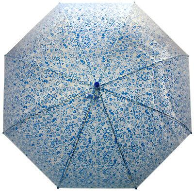 PERLETTI Transparent Kuppel-Schirm Stockschirm Regenschirm Schirmw 2