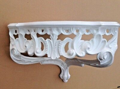 Wall Console Antique White Barok Shelf 38x28 Mirror Corner Flower Stand 8