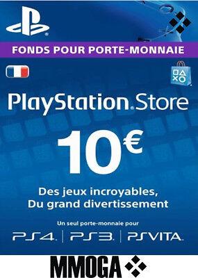 €10 EUR Carte PlayStation Network - 10 EURO PSN Code Jeu - Compte français - FR 2