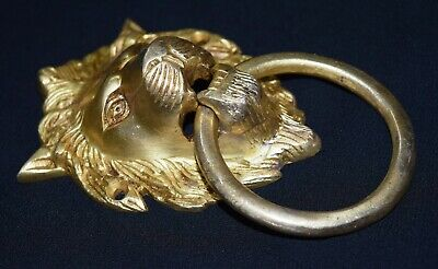 Lion Head Shape Door Knocker Victorian Style Brass Home Door Knocker Door Bell 4