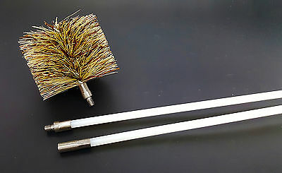 "1-4/"" Brush Vent Exhaust Flue Cleaning Kit Pellet Stove /& Fireplace 7 Rods!"