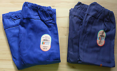 Bundhose Arbeitshose Herrenhose königsblau,2 Seiten-,1 Gesäß-,1 Zollstockt 34590