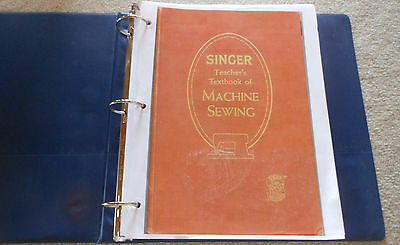 SINGER Teacher's Textbook of Machine Sewing 1957-on CD (PDF file) FREE SHIPPING! 11