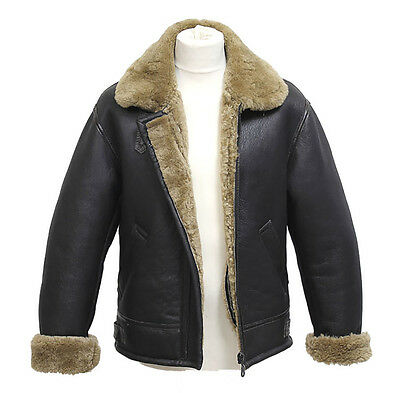 1030479e0 MEN'S AVIATOR B3 Ginger Real Shearling Sheepskin Leather Bomber Flying  Jacket