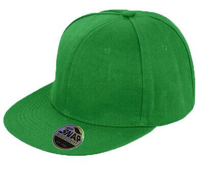 Snapback Baseball Cap Plain Classic Retro Hip Hop Adjustable Flat Peak Hat 5