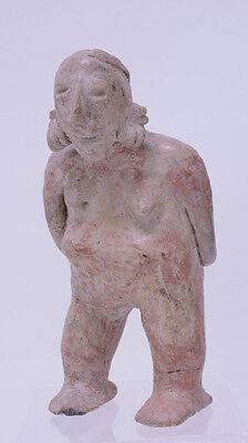 "Large Fine Pre-Columbian Pottery Figure  9 1/2"" x 5"" x 3"" 9"