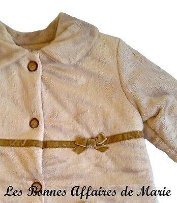 TUTTO PICCOLO - PROMO -60% - Manteau fausse fourrure beige - Neuf étiquette 4