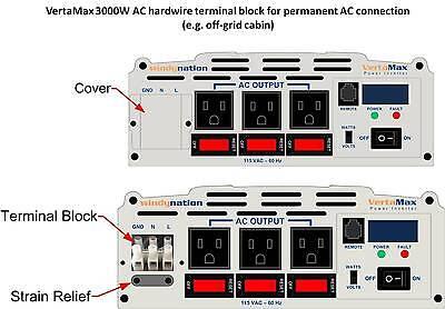 VertaMax 3000 Watt (6000W) Pure Sine Wave Power Inverter 12V Battery RV, Solar 6