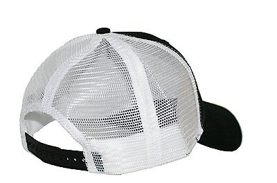 a943304f65e 1 of 2FREE Shipping Caterpillar CAT Equipment Black   White Twill Mesh  Snapback Cap Hat
