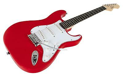 Guitare Electrique Strato ST-Style Single Coil Tremolo 22 Frettes Cutaway Rouge 4