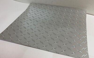 Long-Life Silver Diamond Plate Sign Vinyl  24 Inch x 10 Feet, FREE USA SHIPPING