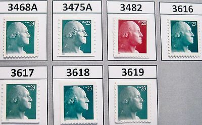 Washington Definitive Basic Set of 7 MNH 3468A 3475 3482 3616 3617 3618 and 3819 2