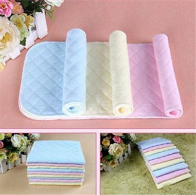 5 PCS Adjustable Reusable Lot Baby Washable Cloth Diaper Nappies White Pink New 2