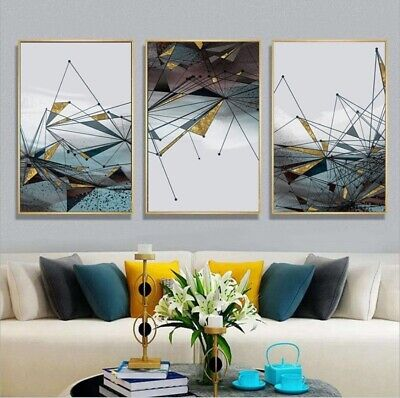 Modern Geometric Wall Art Prints For Home Living Room Bedroom - Minimalist Decor 4