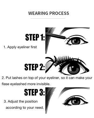 Magnetic liquid Eyeliner magnets False Eyelashes Tweezer Easy Wear Lashes Set 5