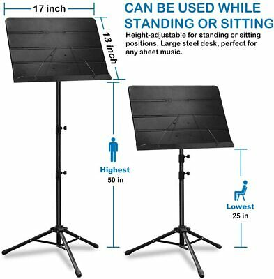 Music Stand, Professional Sheet Music Stand with Clip Holder, Carrying Bag 2