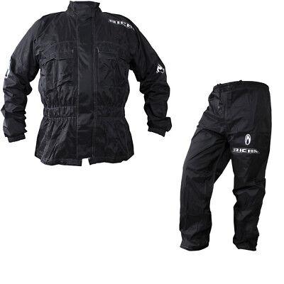 Richa Rain Warrior Motorcycle Motorbike Jacket and Trousers Black Kit Waterproof 2