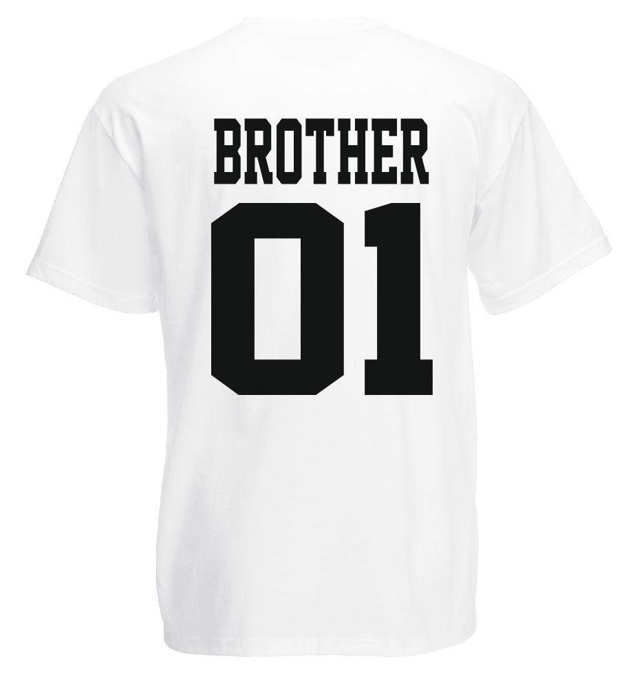 Brother & Sister - T Shirt Set - Geschwister Beste Freunde Bruder - DOPPELPACK - 6