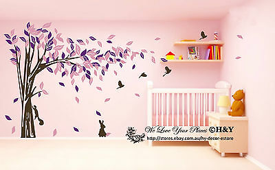 Jungle Tree Removable Wall Art Stickers Kids Nursery Vinyl Decals Decor Animals